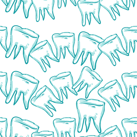 seamless pattern dentistry tooth  picture vector illustration
