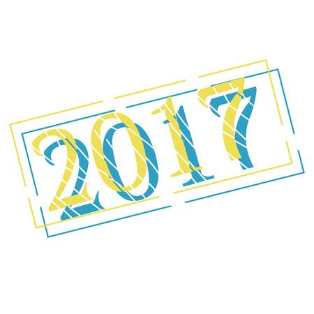 timbre de Noël pour les décorations du nouvel an. illustration vectorielle