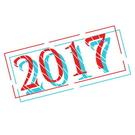 Nouvel An avec noël décorations illustration vectorielle Vecteurs