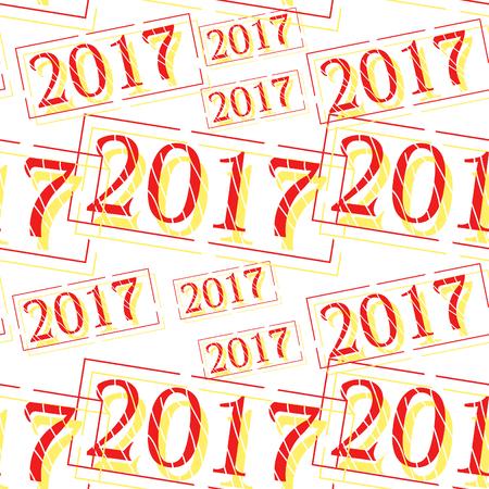 illustration transparente motif nouvelle année décorations timbre de Noël .vector