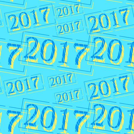 modèle sans couture nouvel an décorations timbre de Noël sur blue.vector illustration Vecteurs