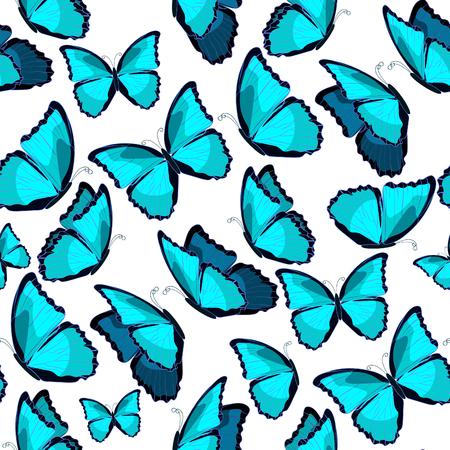 morpho: seamless pattern the butterfly morpho monarch. vector illustration