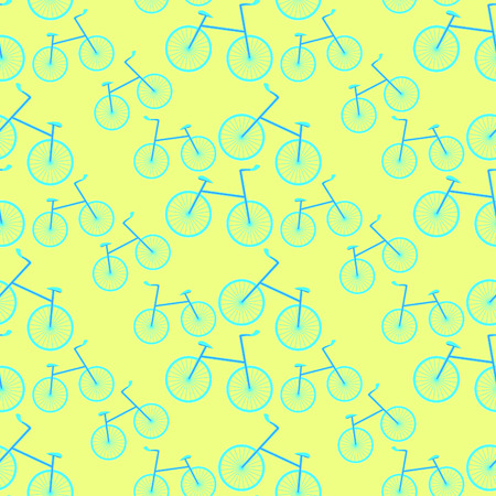 seamless pattern a bicycle a sports  light vector illustration