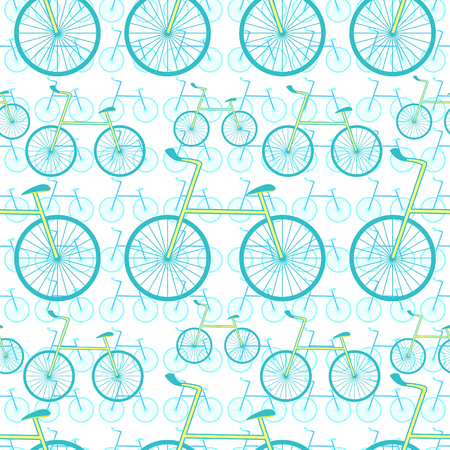 seamless pattern a bicycle sports  vector illustration