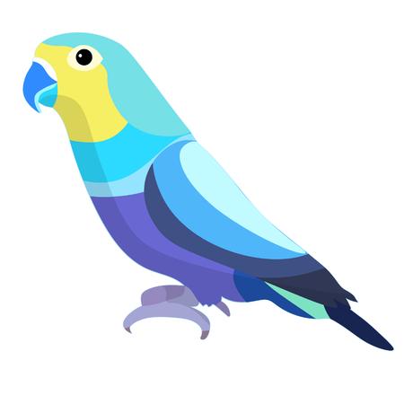 dwergpapegaaien papegaai met een blauwe bek vectorillustratie Vector Illustratie