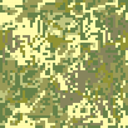 coloration: seamless pattern Protective camouflage  brown coloration pixel fatherland  .vector illustration