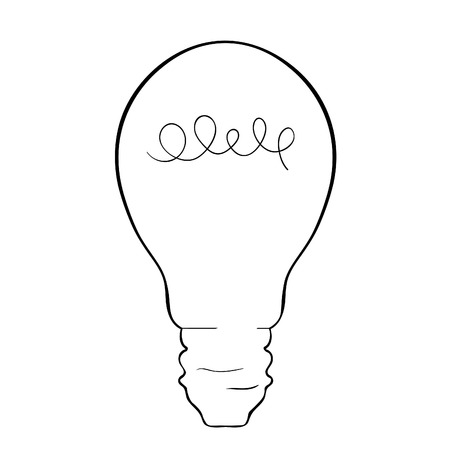 Lamp of insight in colouring style illustration.