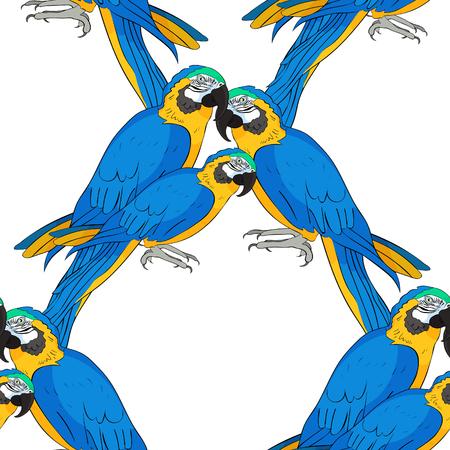 Parrot seamless pattern illustration. Illustration