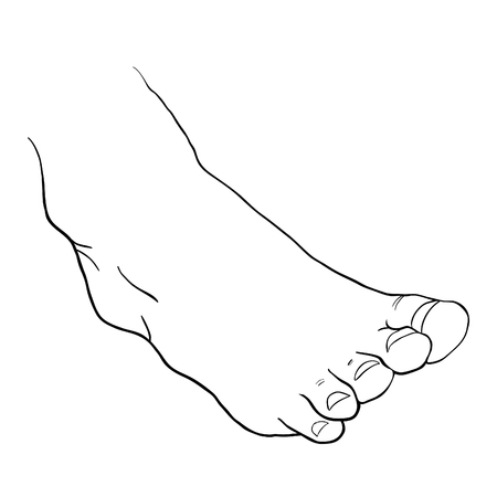 the foot male bottom out vector illustration 向量圖像
