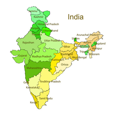 India Map Stock Photos And Images - 123RF