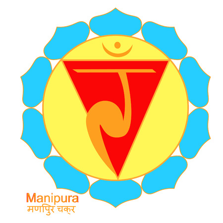 The manipura Indian of chakra. vector illustration