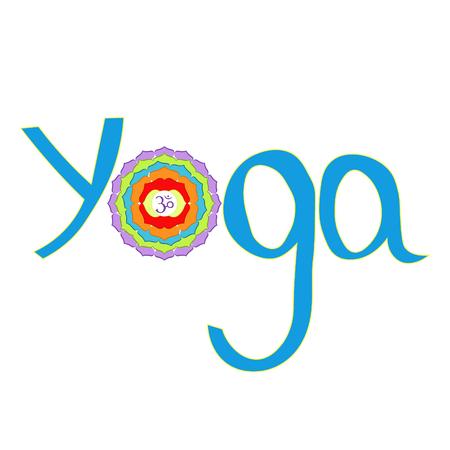 Logo yoga Indian chakra sahasrara vector illustration Illustration