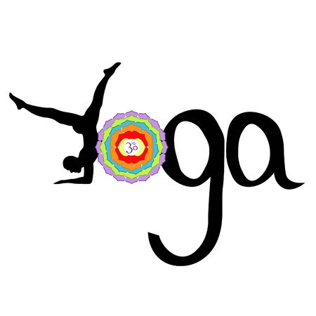 Logo yoga Indian man chakra sahasrara. vector illustration