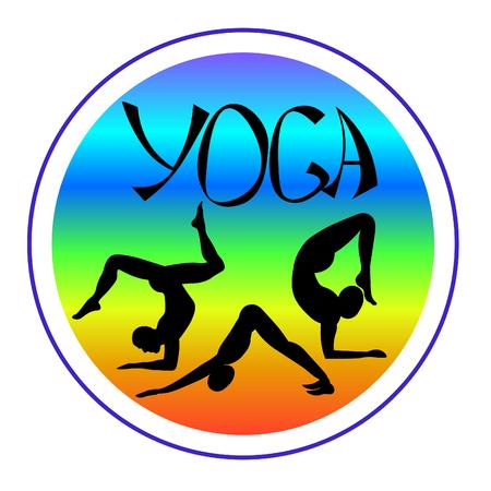 Logo yoga of a Indian man vector illustration