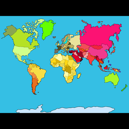 World map continents and countries vector illustration world map continents and countries vector illustration foto de archivo 92937191 gumiabroncs Gallery
