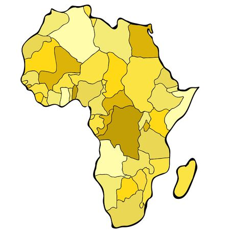World map of Africa continent vector illustration Illustration