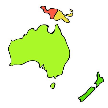 World map of continent Australia vector illustration. Illusztráció