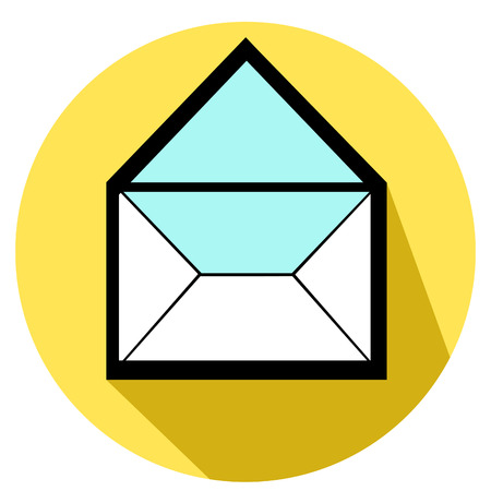 flat symbol of envelope icon  vector illustration