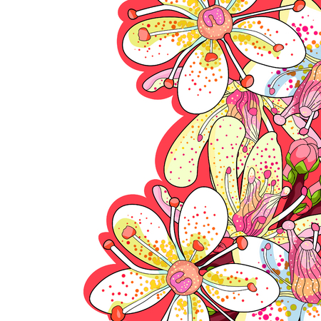card flower of the Saxifrage urbrosa  vector illustration