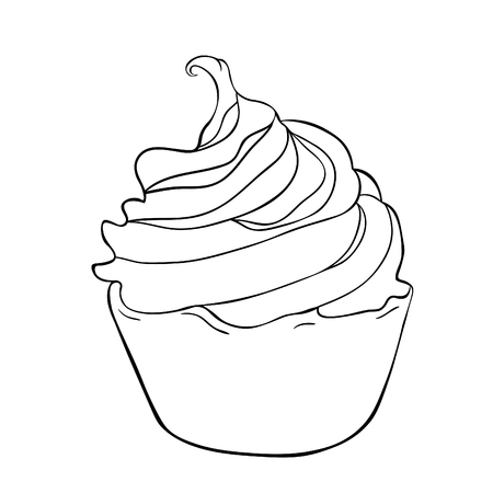 Coloring cake on a happy holiday vector illustration