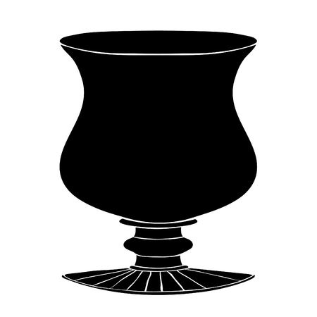 A silhouette Greek vase vector illustration design