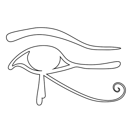 coloring Egyptian Eye of Horus symbol  vector illustration