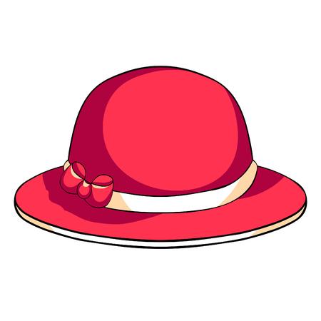 female headdress hat with a bow vector illustration Ilustração