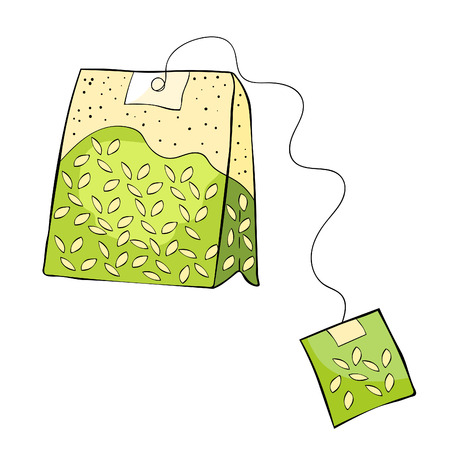 Natural product is a pack of green tea vector illustration