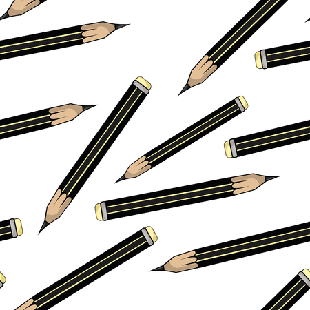 seamless pattern  is Stationery graphic pencil vector illustration