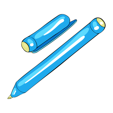 stationery felt-tip pen with a cap vector illustration