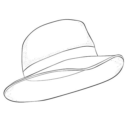 the coloring  men headdress  hat. vector illustration