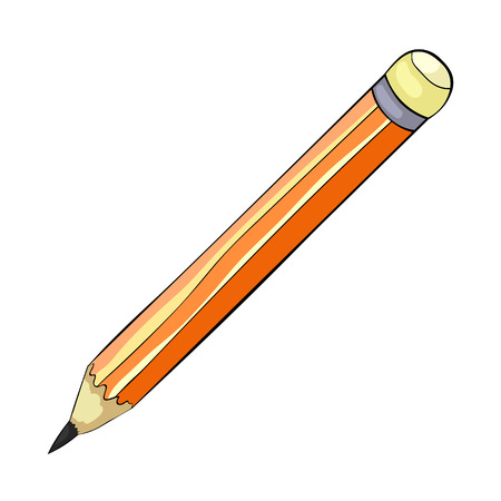 the is Stationery graphic pencil vector illustration