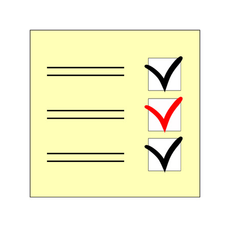 the mark to select the answer in the questionnaire  vector illustration