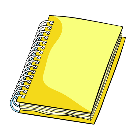 office supplies notepad on a spiral  vector illustration Ilustração