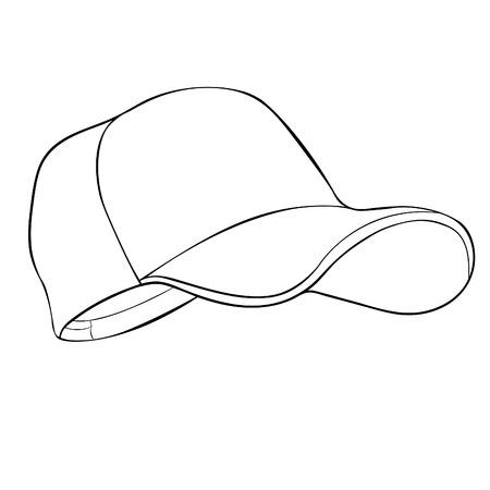 coloring  is a cap headdress summer vector illustration