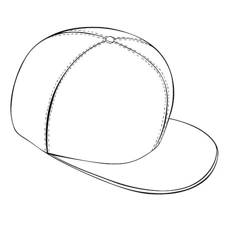 coloring  is cap headdress summer vector illustration Ilustração