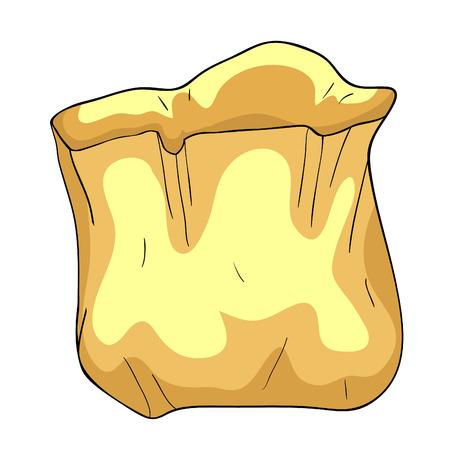 paper bag for a quick meal  vector illustration Ilustração