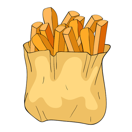 the french fries snack food vector illustration