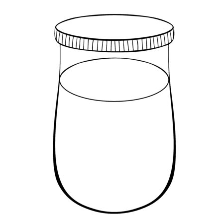 coloring can of paint for drawing vector illustration