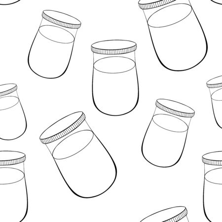 coloring seamless pattern can of paint for drawing vector illustration 矢量图像