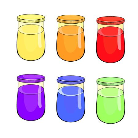 set can of paint for drawing vector illustration Ilustrace