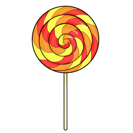 sucking a lollipop candy sweetness vector illustration