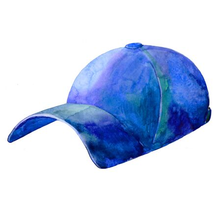 cap with a visor a headdress summer watercolor illustration Reklamní fotografie - 135044856
