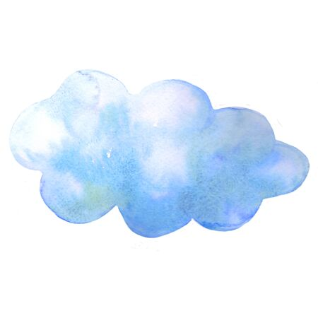 the is cumulus cloud blue watercolor illustration