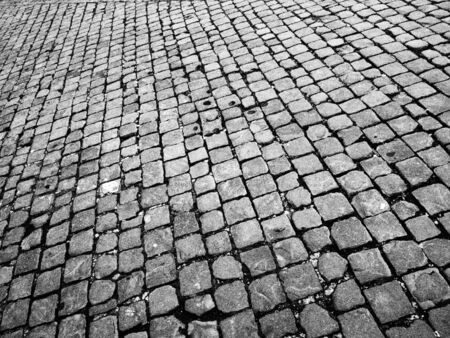 bond street: brick road as a background Stock Photo