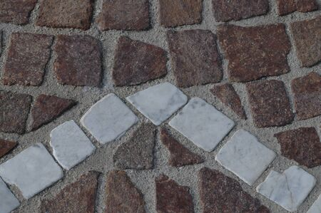 inserts: Pavement with marble inserts to use as background Stock Photo