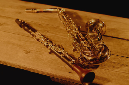 Instruments on table