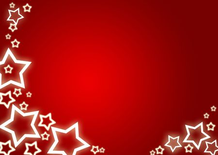 Red christmas background  card with white stars