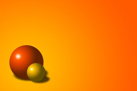Abstract background with red and yellow balls photo