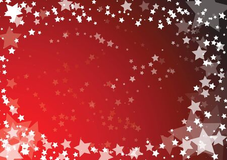 Vector christmas card with stars on red background photo